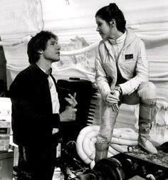 Han & Leia. I will not apologize for pinning Star Wars pictures in black and white.