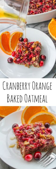 Cranberry Orange Baked Oatmeal a crowd pleasing, make ahead breakfast that's perfect for any cold winter morning