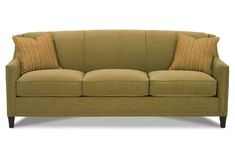 Gibson Sofa with Exposed Wood Feet by Rowe at Becker Furniture World Club Furniture, Belfort Furniture, Furniture Companies, Pallet Furniture, Furniture Design, House Furniture, Fabric Sofa, Cushions On Sofa, Couch