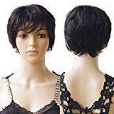#10: S-Noilite ® 100% naturel Cheveux Perruques Remy de cheveux humains Perruques droites courtes complet noir naturel perruque pour femme