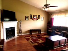 Beautiful open living room with hardwood floors adorns this gorgeous home for sale in Richlands, NC.  Looking to relocate near Camp Lejeune area, call April Seifert~Broker/Realtor~(607) 434-2575