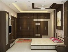 Interior Designer in Thane Bedroom Cupboard Designs, Wardrobe Design Bedroom, Luxury Bedroom Design, Bedroom Furniture Design, Master Bedroom Design, Modern Wardrobe, Bedroom False Ceiling Design, Apartment Bedroom Decor, Luxurious Bedrooms