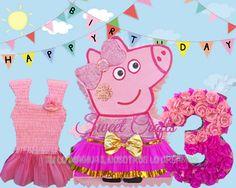 Piñatas Peppa Pig Num 3 #DiseñosManualesYGraficos #SweetCraftsOax #TuLoImaginasNosotrosLoCreamos