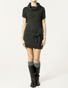 Zara tunic- would be cute with skinny jeans and boots