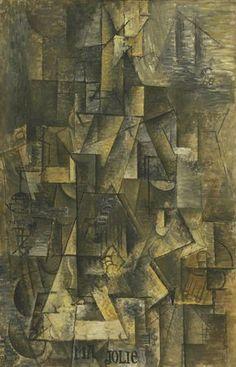 Pablo Picasso, La femme à la cithare. Ma jolie, 1911-12