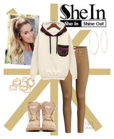 """""""Shein contest http://www.shein.com/White-Hooded-Long-Sleeve-Pocket-Sweatshirt-p-188752-cat-1773.html?utm_source=polyvore&utm_medium=contest&url_from=SKU:sweatshirt141022128 #273"""" by dbscloset ❤ liked on Polyvore featuring H&M, Balmain, Michael Kors and JFR"""