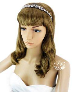 Wedding hairband Rhinestone Hairband Wedding by PureRainDesigns, $48.00