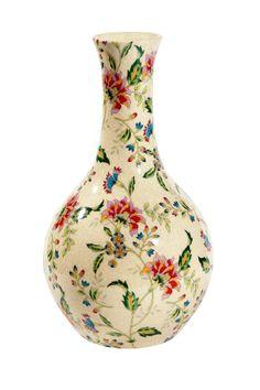 vaso de porcelana florido