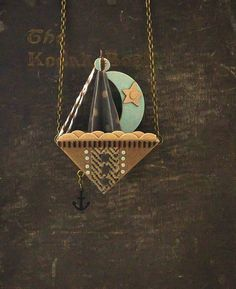 Sailboat Necklace With Anchor by ByBeep on Etsy, $75.00