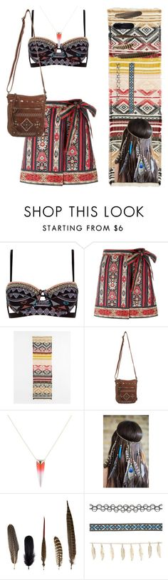 """""""Aztec girl"""" by jackalade ❤ liked on Polyvore featuring River Island, Étoile Isabel Marant, UNIONBAY, Alexis Bittar, Mineheart and Charlotte Russe"""