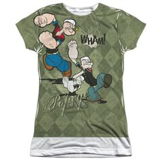 Popeye Argyle Punch Adult All Over Print 100/% Poly T-shirt