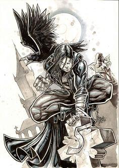 The crow by Vinz-el-Tabanas.
