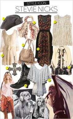 vintage Stevie Nicks style clothing - Google Search