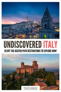 Discover sumptuous small towns and unique hidden gems in Italy, one of the world's most well-traveled countries. Explore undiscovered Italy off the beaten path with the hidden destinations you want to travel safely to next! #hiddengemsinitaly #Italytravel