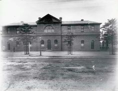 Newcastle Police Station at 90 Hunter St,Newcastle,in the Hunter region of New South Wales (year unknown).
