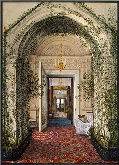 Konstantin Andreyevich Ukhtomsky Interiors of the Winter Palace. The Small Winter Garden in the Apartments of Alexandra Fyodorovna