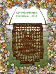 Filet Easterbunny crochet freebie