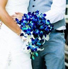 blue flower bouqet   Blue Orchid Bouquet Wedding Bouquet in Abbotsford, BC - BUCKETS FRESH ...