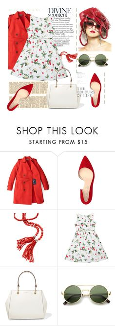 """cherry lips crystal clear"" by evelin93 ❤ liked on Polyvore featuring Tommy Hilfiger, Shoes of Prey, DKNY and ZeroUV"
