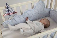 Amazon.com: Baby Crib, baby cot, cradle bumper, clouds bumper -Light Blue waffle: Handmade