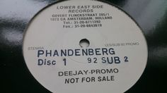 Phandenberg - Disc 1 (1992). six tracks in different styles (house, techno, breaks), one of them sounds like a breakbeat remix of Second Phase - Mentasm, nice one!