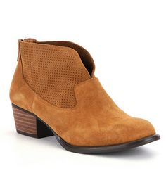 Jessica Simpson Dacia Honey Brown Suede Ankle Boot