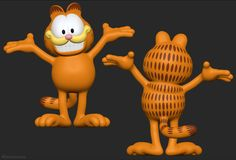 Garfield 3D model for a realtime application (this is the high-poly version), licensed from and approved by Garfield's creator (an honor).  • http://metinseven.com  #garfield #3d #3dmodel #cartoon #cartoony #3dmodeling #character #illustration #3dconversion #sculpting #zbrush