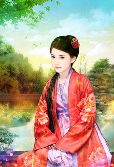 chinese art 欢天喜地七仙女