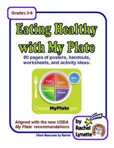 80+ page unit with handouts, worksheets, activity ideas and posters.  Aligned with My Plate. $12.50