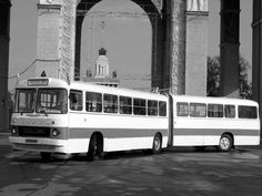 '1963-1975 Ikarus 180 Busses, Commercial Vehicle, Hungary, Budapest, Transportation, Automobile, Train, City, Vehicles