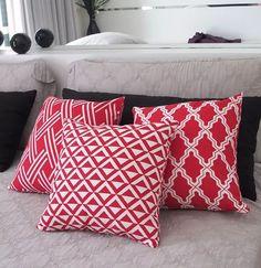 kit 3 capas de almofadas flame geométrico vermelho
