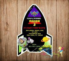 Buzz Lightyear Birthday Invitation, Toy Story Party Invitation by CutePartyFairy $9.00   esty
