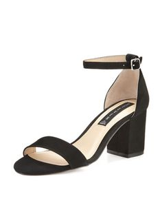 Vanya+Suede+Ankle-Wrap+Sandal,+Black+by+Steven+by+Steve+Madden+at+Neiman+Marcus+Last+Call.