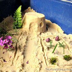 Make a Sand Pit Fairy Garden