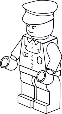 clipartist.info lego town policeman black white line art tatoo ...