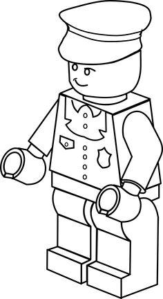 clipartist.info lego town policeman black white line art tatoo ...