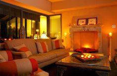 The fireplace in Villa Ducale, Taormina