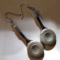 Flute key earrings  by MusicBling on Etsy, $15.00