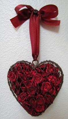 Heart full of roses.