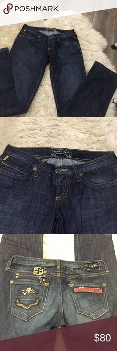 Dark blue stretch jeans Dark blue stretch jeans very comfortable like new Robins jean Jeans Straight Leg