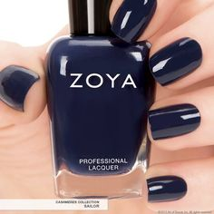 ZOYA nail polish Sailor part of the Cashmeres and Satins fall collection 2013, a deep Navy blue creme