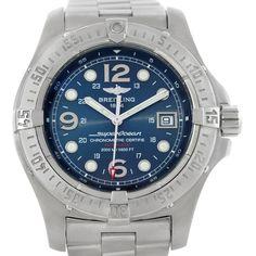 Breitling Aeromarine Superocean Steelfish Blue Dial Watch A17390