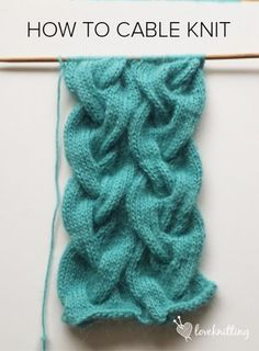 FREE knitting tutorial! Learn how to cable + a free Cable Cowl knitting pattern - LoveKnitting