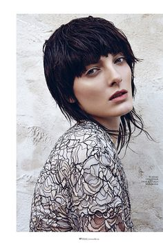 Punk Chic–The beautiful Denisa Dvorakova shows off her rough and tumble side for the January issue of Elle Vietnam.