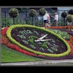 Topiary clock