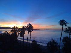 Sunset over Santa Barbara