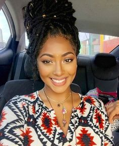 Ideas braids for black women updo faux locs Protective Hairstyles, Braided Hairstyles, Updo Hairstyle, African Hairstyles, Protective Styles, Cornrows, Curly Hair Styles, Natural Hair Styles, Pelo Afro