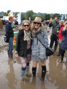 Glasto festival style! Mud mud mud! Get last minute Festival tickets with www.tikbuzz.co.uk