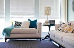 gray and teal living room | My color scheme for living room- white, gray, back, teal and... / For ...