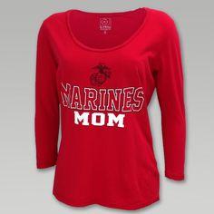 Marines Mom 3/4 Sleeve T